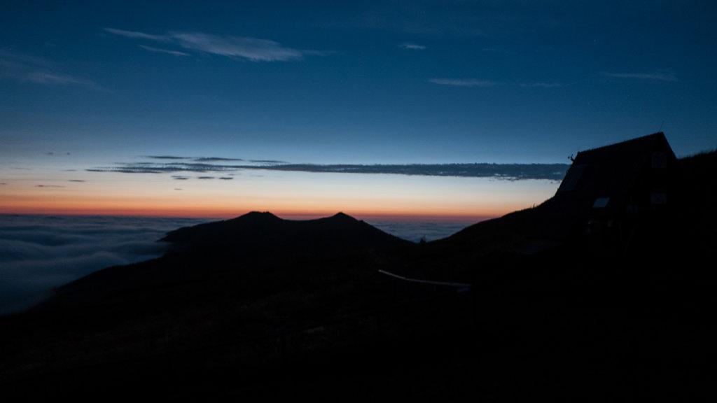 Zachód słońca z Połoniny Wetlińskiej